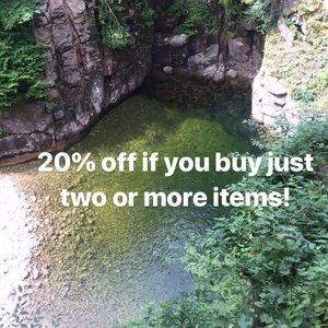 20% off if you buy two or more!
